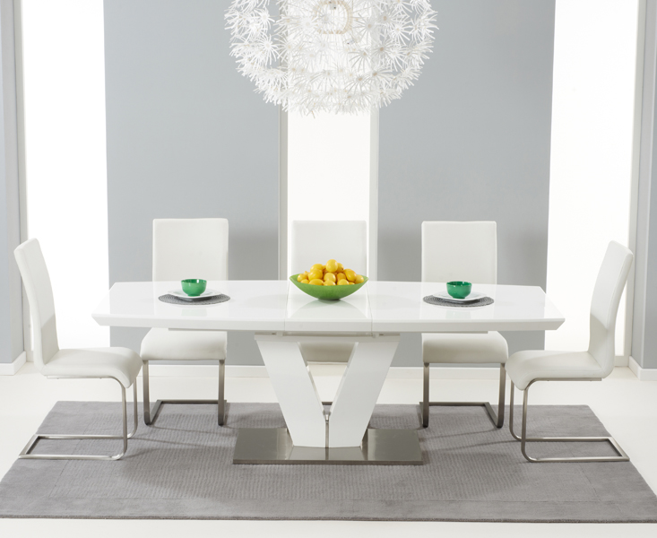 Buy Malibu White Extendable Dining Table